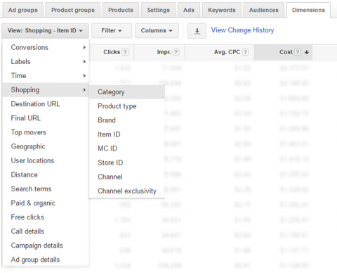 dimensions tab high impact adwords features youre not using