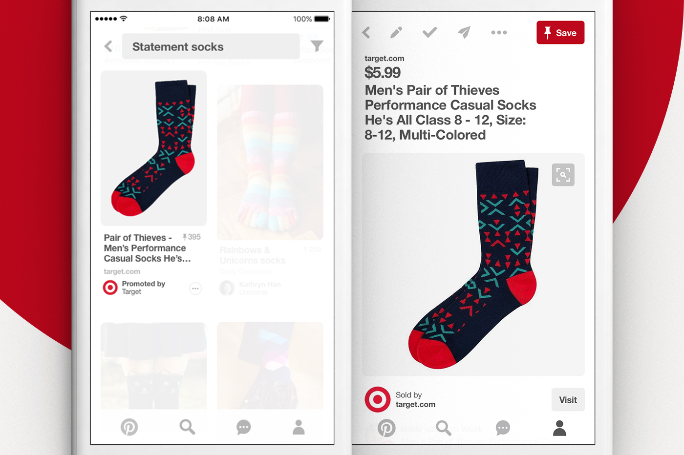Pinterest Search Ads example