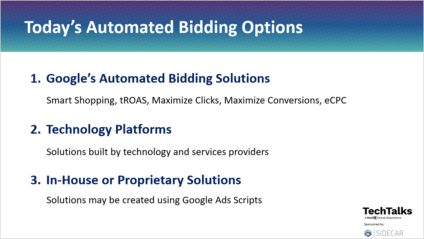 Automated Bidding Options