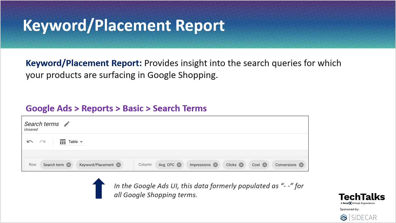 How to Download Keyword/Placement Report